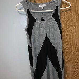 Black/grey summer dress